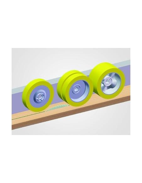 Combinaison de rouleaux de 25 et 60mm pour travaux de sciage