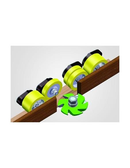 Combinaison de rouleaux de 25 et 60mm