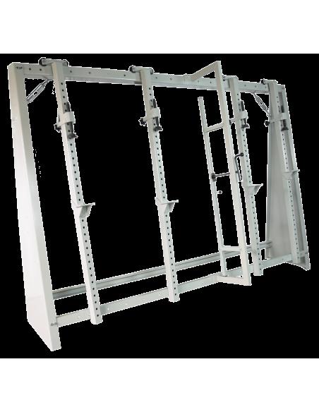 Cadreuse à serrage mécanique avec presse à cadre