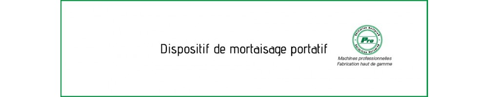 Mortaiseuse portative dispositive de mortaisage bois en menuiserie