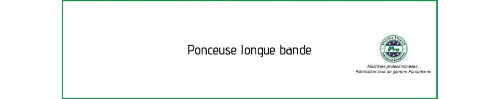 Ponceuses à longues bandes