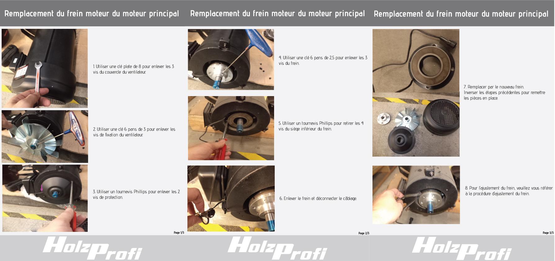 Remplacement du frein moteur sur le moteur principal